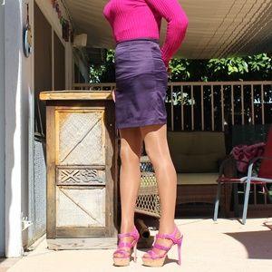 Purple Pencil Skirt Size 6